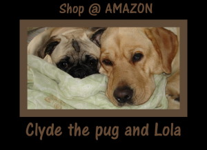 Lola and Clyde the pug